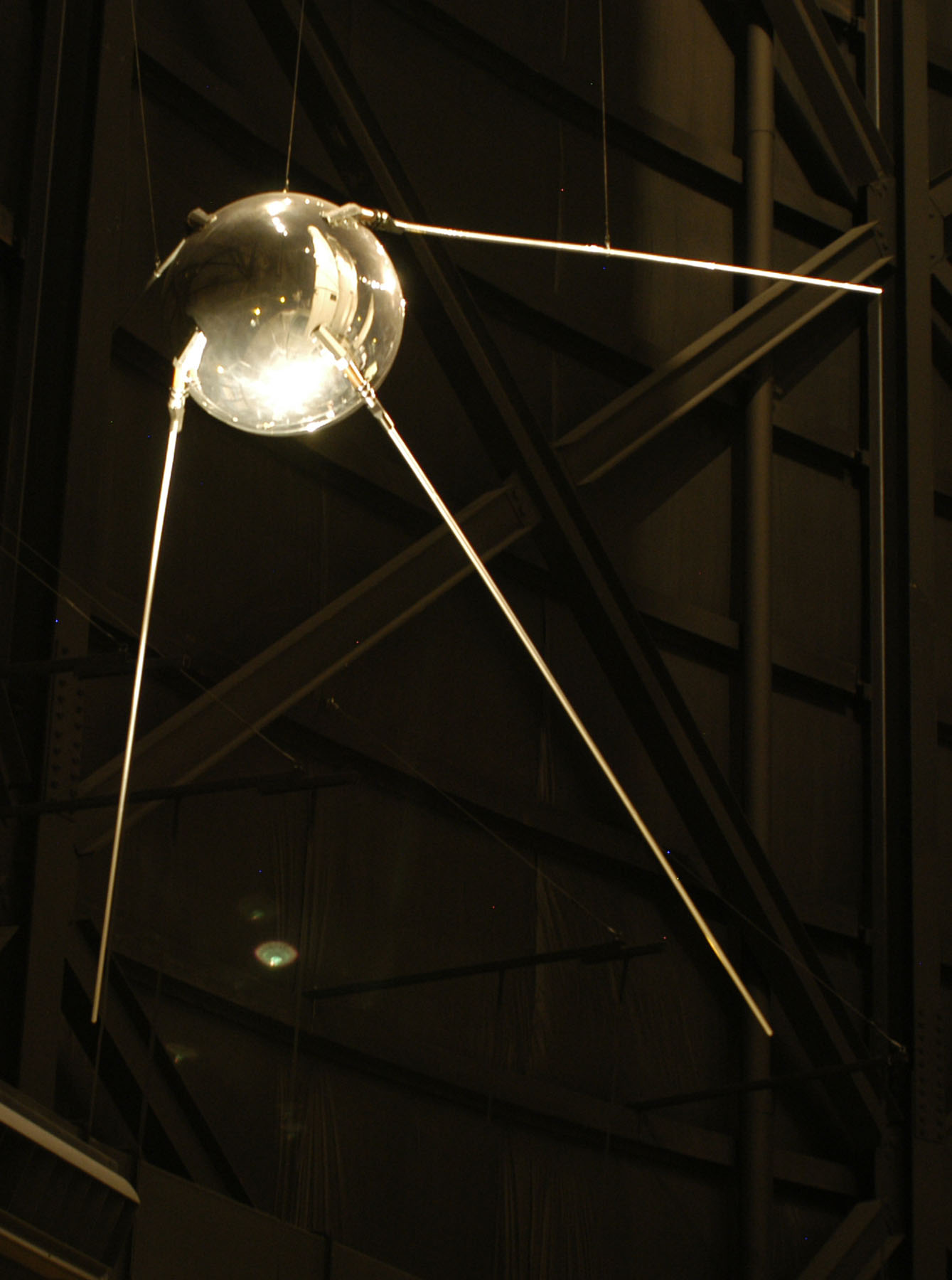 Replica of Sputnik I in National Museum of the U.S. Air Force (USAF Photo)