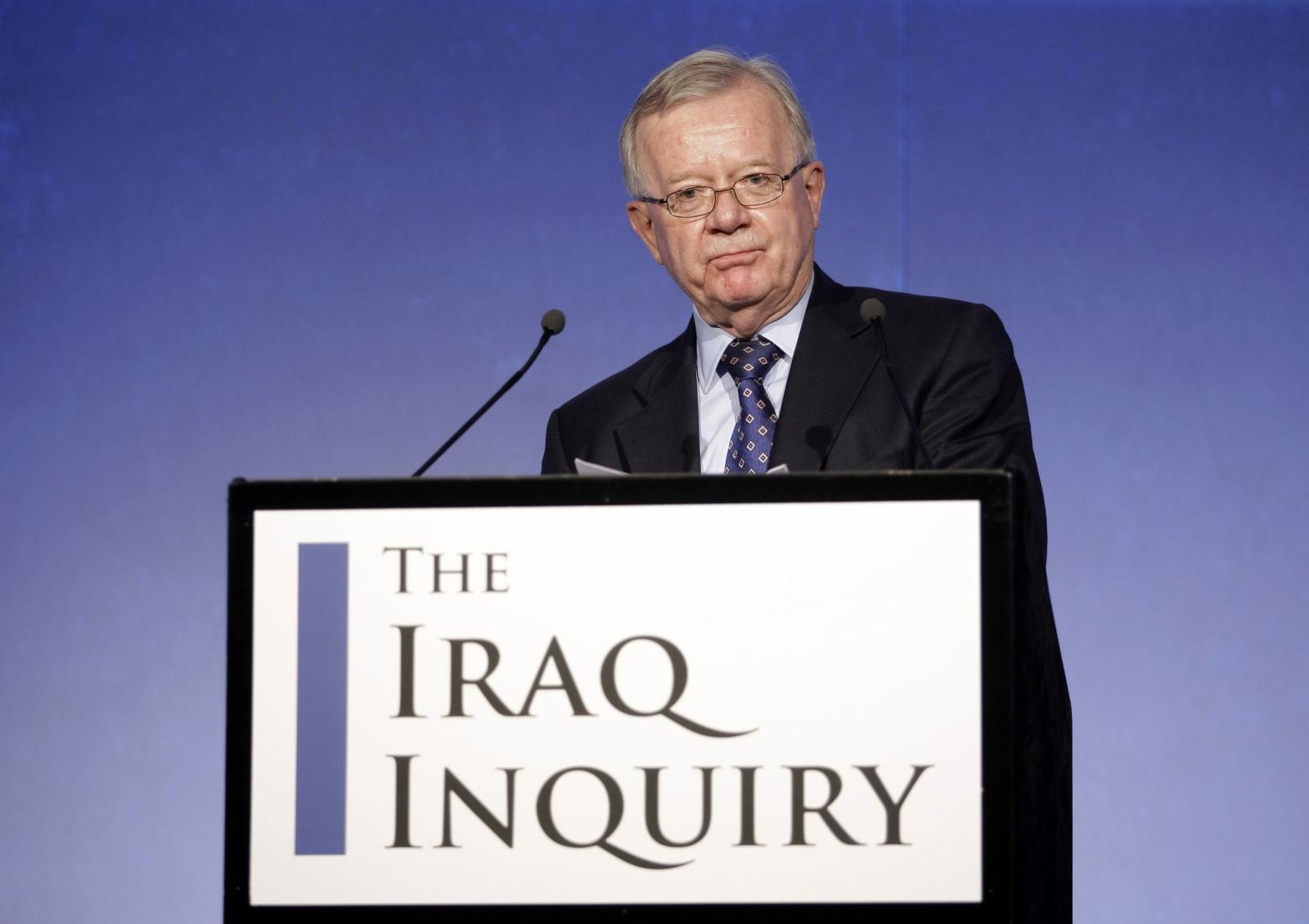 Sir John Chilicot, Chairman of the Iraq Inquiry (Matt Dunham/Reuters)