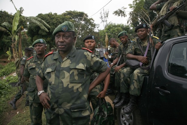 General Francois Olenga and Congolese soldiers (AP/Jerome Delay)
