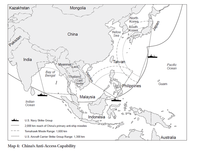 Image from Robert Haddick, Fire on the Water: China, America, and the Future of the Pacific (Annapolis: Naval Institute Press, 2014), 91.