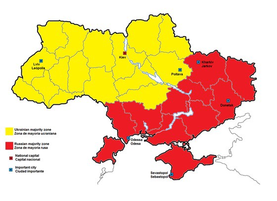 Linguistic Breakdown of Ukraine [1]