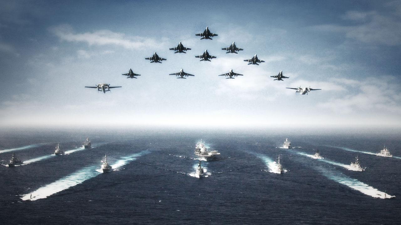 U.S. Navy ships and aircraft. (Navy.com)