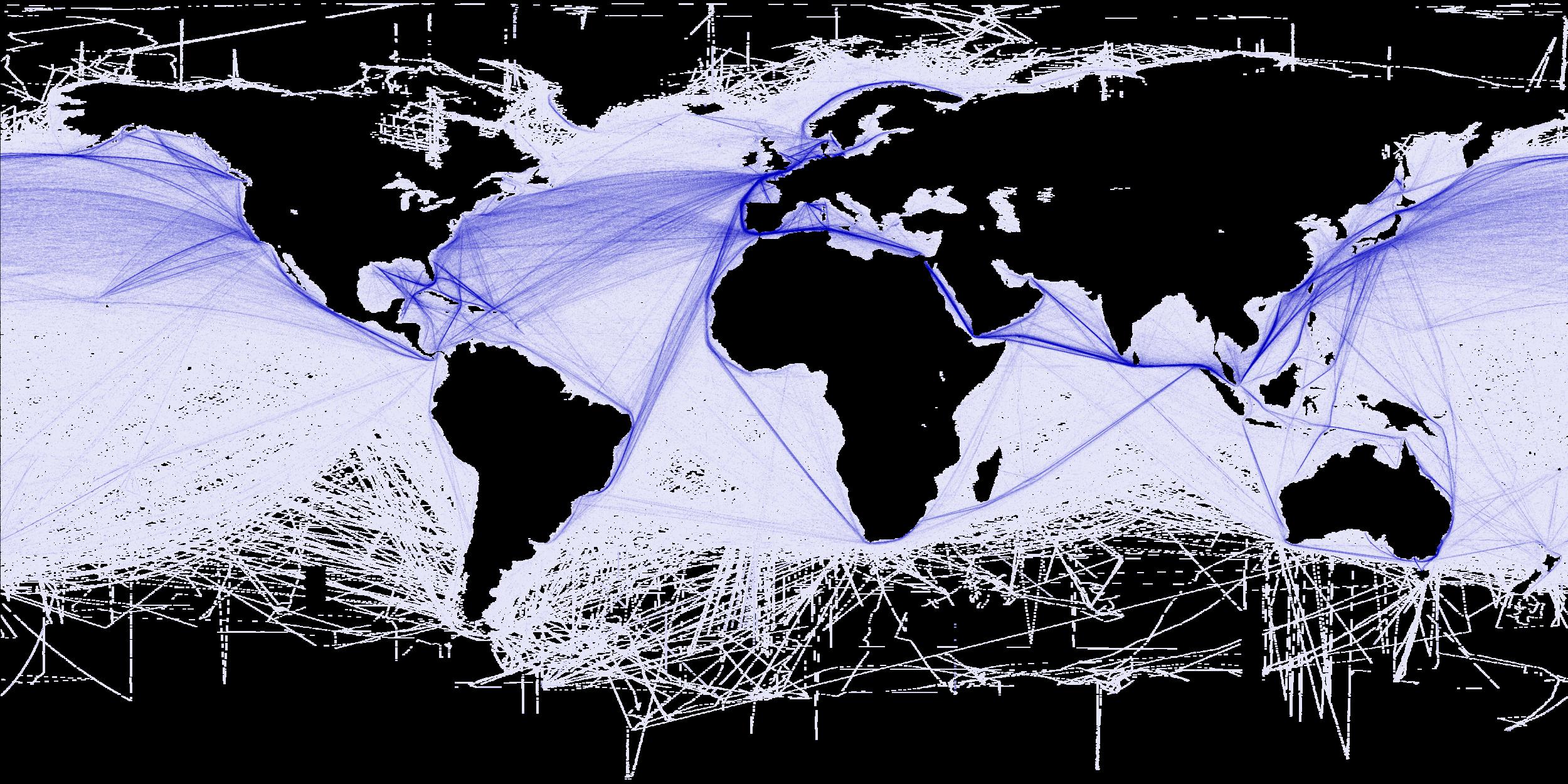 World shipping routes (T. Hengel/Wikimedia)