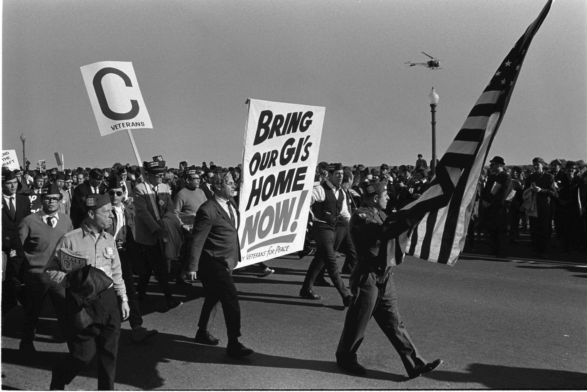 Vietnam War protestors Veterans for Peace at the March on the Pentagon. (Frank Wolfe/LBJ Library)