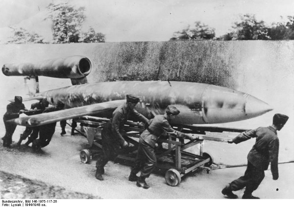 An early V-1 flying bomb