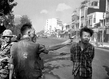 This iconic image of a summary execution near the end of Tet may have been the tipping point of the communist's strategic victory. One bullet may be able to have influence.