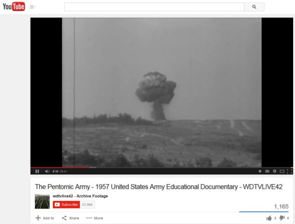 During the 1950s the U.S. Army believed that atomic technology had permanently and radically changed the battlefield and the nature of future warfare. In response, it developed the Pentomic division and  this educational video . By 1960, the Army recognized its error and reconfigured its divisions.