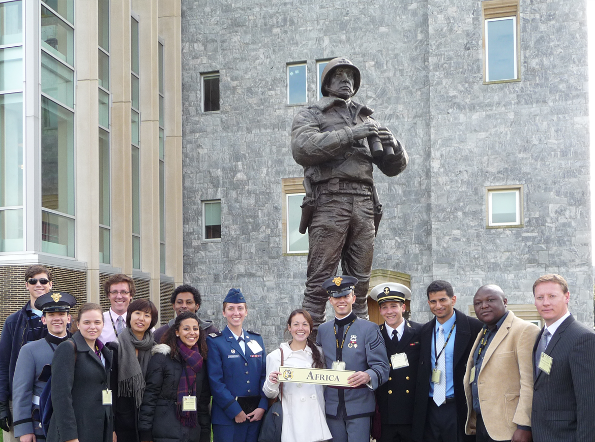 """Roundtable group inspired by """"After Genocide: Rwanda and the African Future"""" at the 66th annual Student Conference on U.S. Affairs [  U.S. Military Academy/Flickr]"""