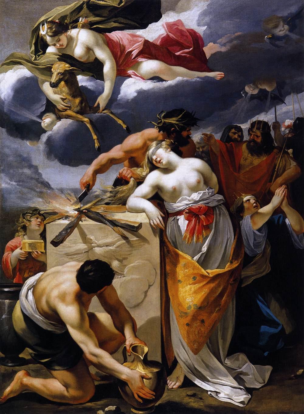 The Sacrifice of Iphigenia by François Perrier (Wikimedia)