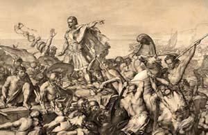 """Caesar's Invasions of Britain"" by Edward Armitage. (Wikimedia)"