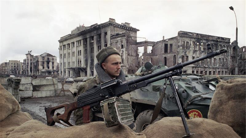 Russian troops entered Chechnya in December 1994 to quash the breakaway region's independence drive (AP Photo)