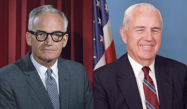 Sen. Barry Goldwater (R-AZ) and Rep. William Flynt Nichols (D-AL-4), the co-sponsors of the Goldwater-Nichols Act of 1986 ( National Review )