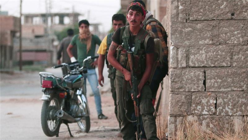 YPG fighters in Hasakah clash with Syrian forces,August 21, 2016 (Photo: Reuters)