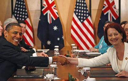 President Barack Obama and Prime Minister Julia Gillard (Independent Australia)
