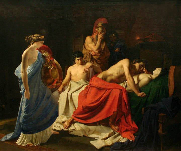 Achilles Lamenting the Death of Patroclus by Nikolai Ge (Wikimedia)