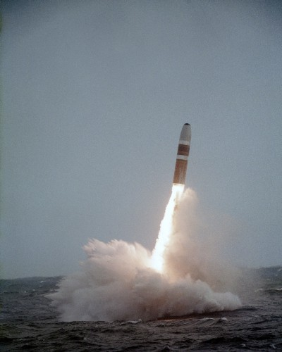 Submarine-launched ballistic missile.