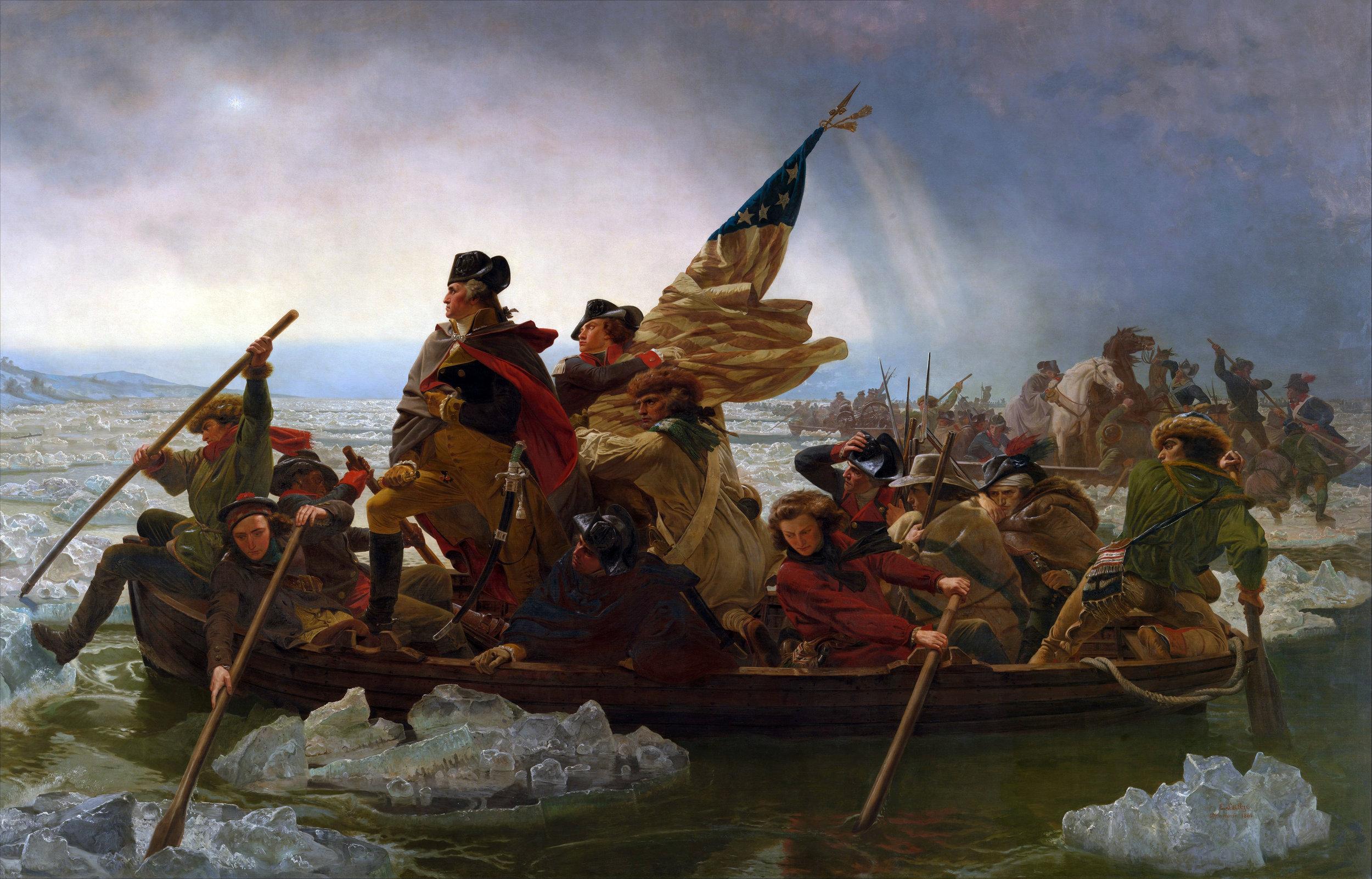 """""""Washington Crossing the Delaware"""" by Emanuel Leutze (Wikimedia)"""
