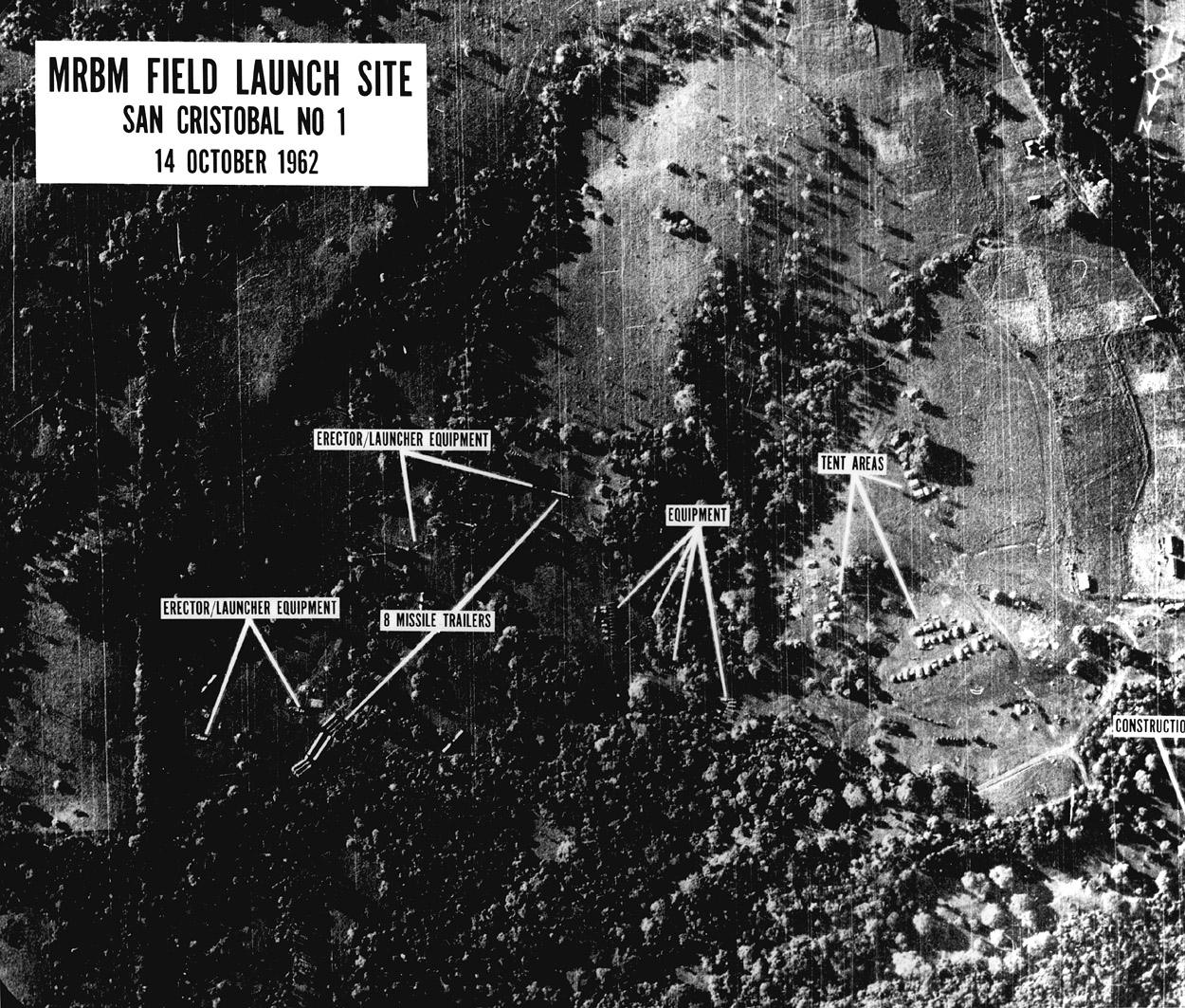 One of the first images of missile bases under construction shown to President Kennedy on the morning of October 16. (John F. Kennedy Presidential Library and Museum/Wikimedia)
