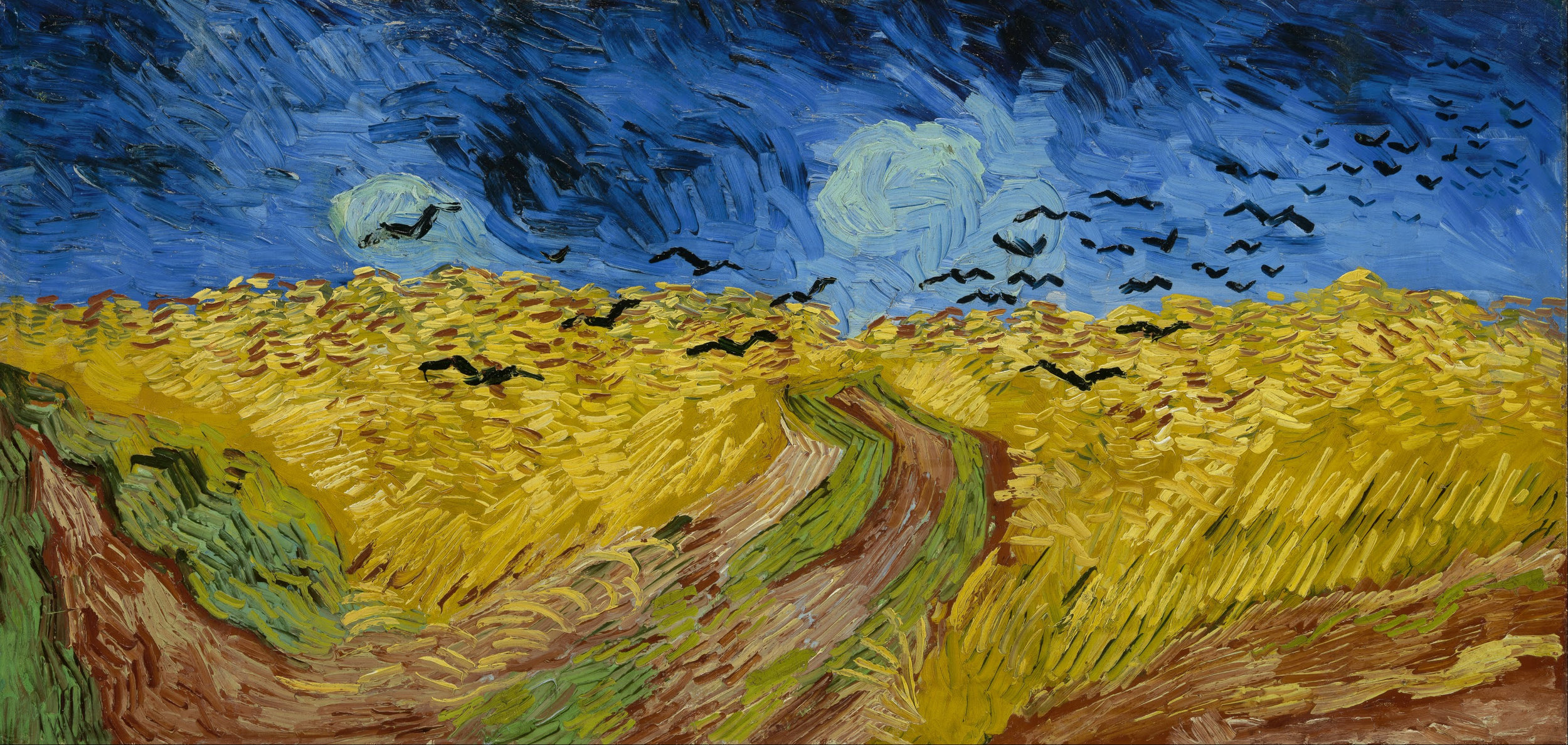 """""""Wheatfield With Crows"""" by Vincent Van Gogh. (Wikimedia)"""