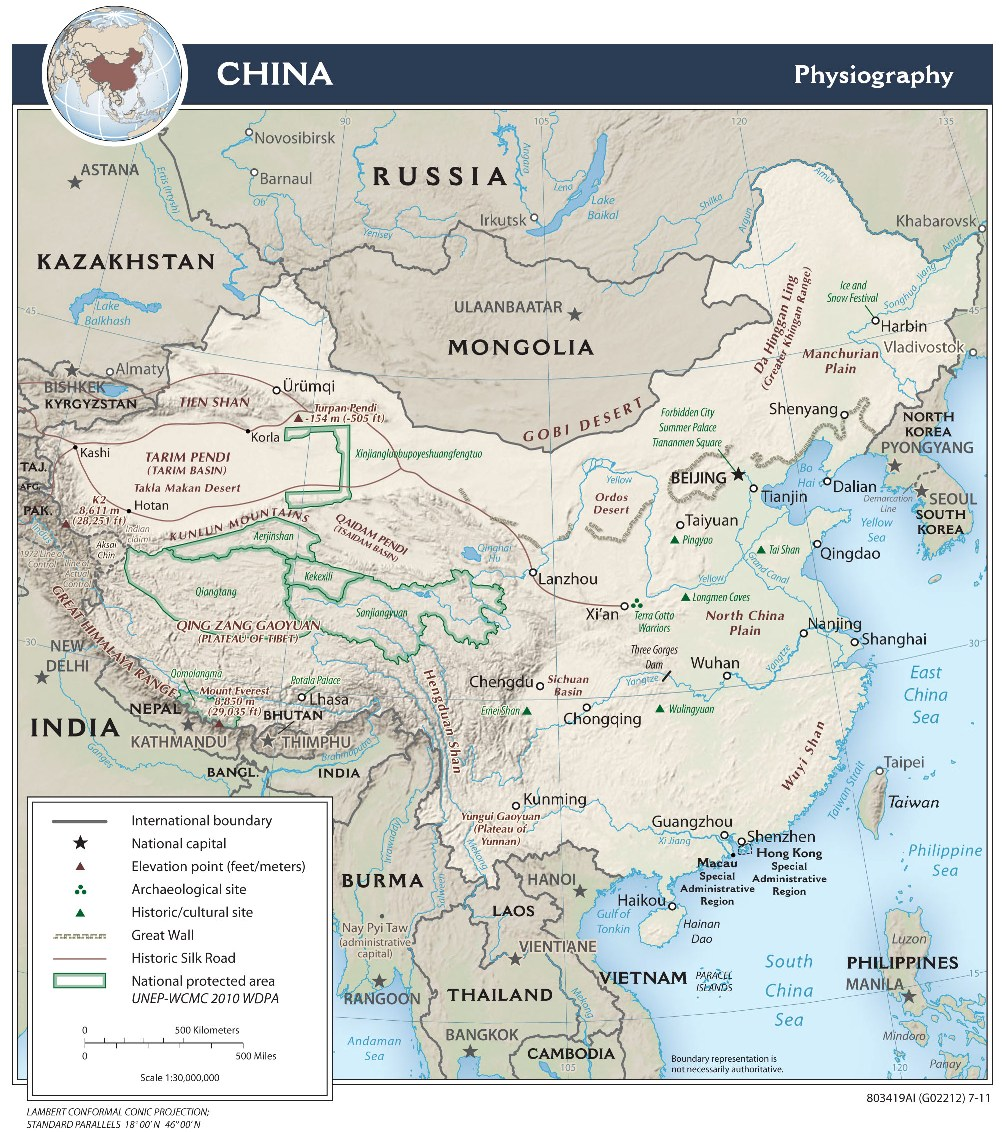 Geography of China ( CIA )