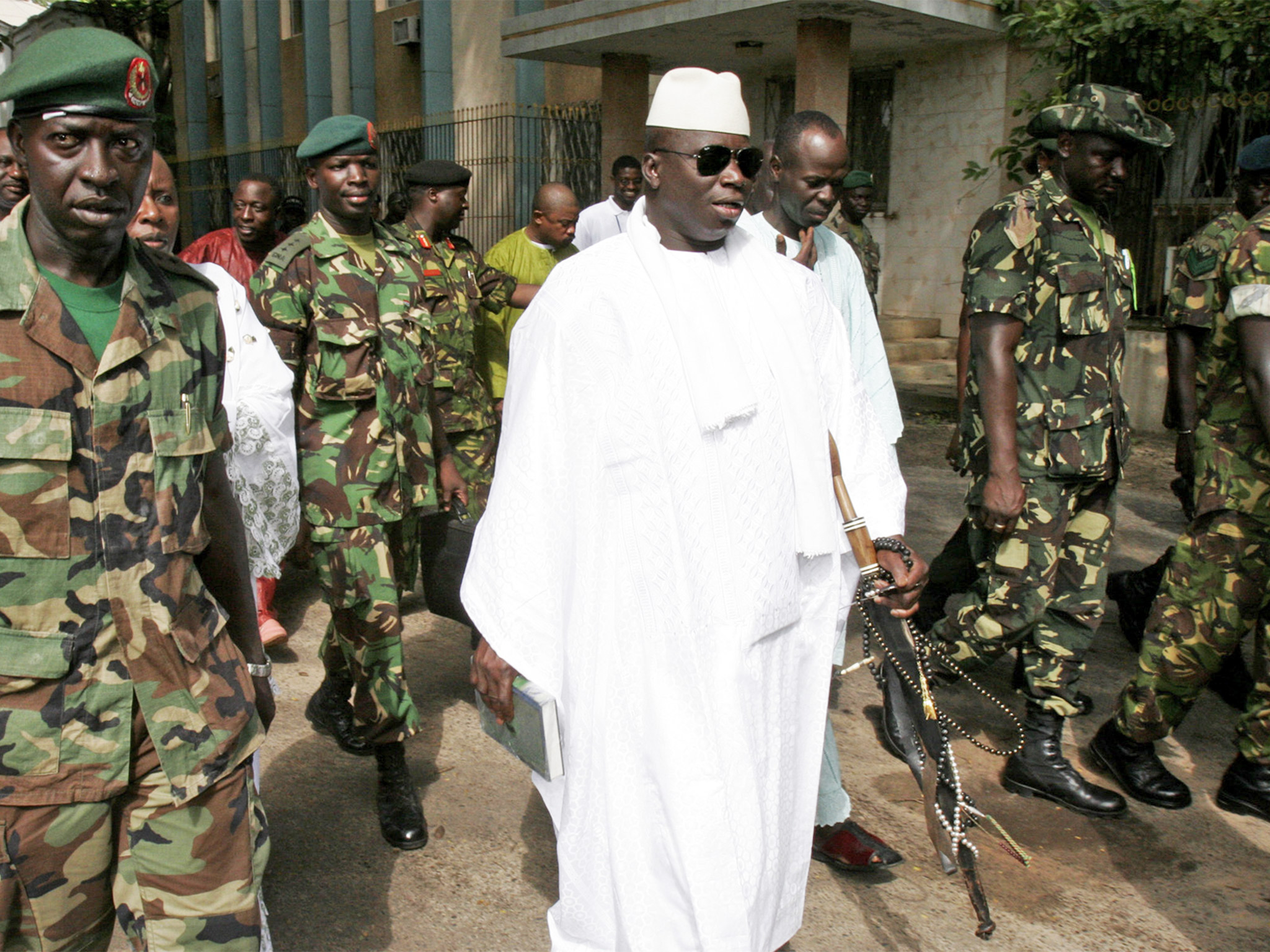 Yahya Jammeh has refused to leave office despite losing The Gambia's presidential election last December | AP