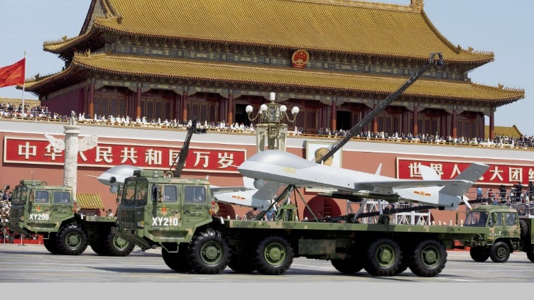 China's Wing Loong medium-altitude long-endurance unmanned vehicle on display in the 3 September 2015 military parade | PA
