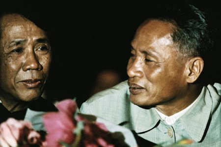 North Vietnamese First Secretary Le Duan and Prime Minister Pham Van Dong in Hanoi in 1969. (History News Network)
