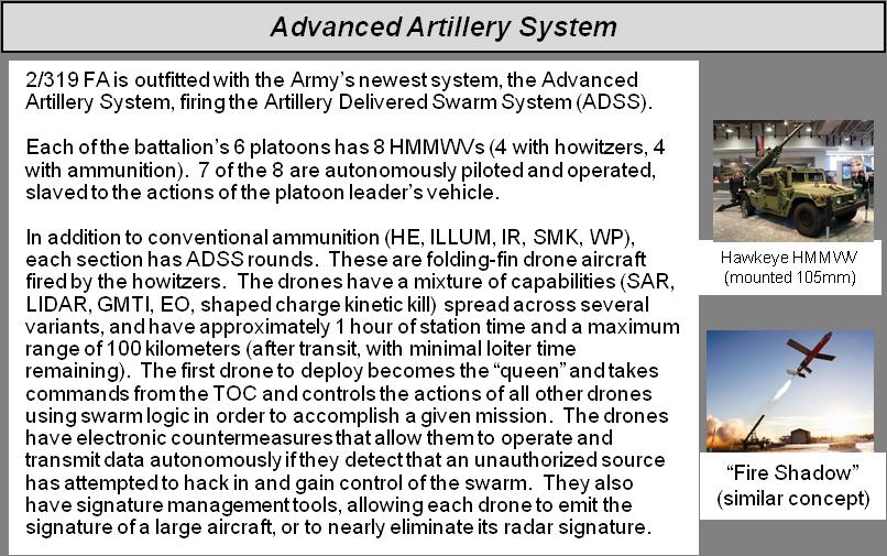 Description of the Hypothetical Advanced Artillery System