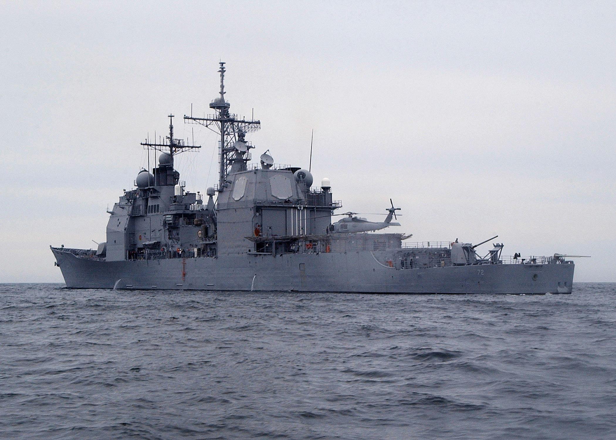The aegis cruiser USS Vella Gulf (Photographer's Mate 2nd Class Michael Sandberg/U.S. Navy Photo)