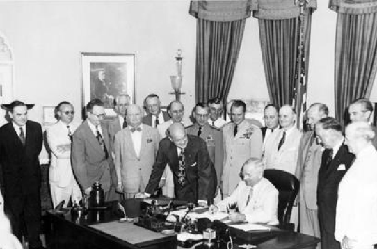Truman signing National Security Act Amendment of 1949 , Harry S. Truman Library & Museum