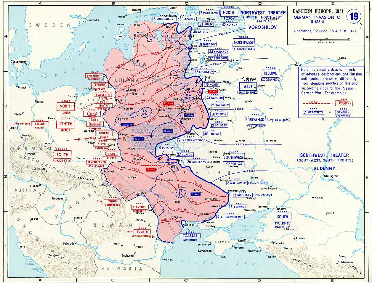 Map of Operation Barbarossa
