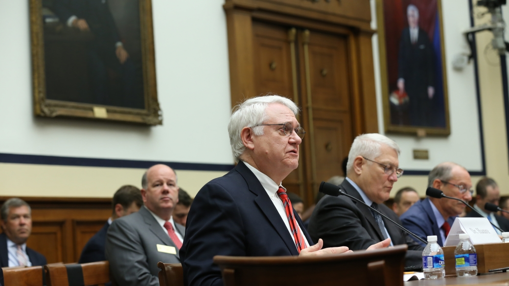 """Dr. John J. Hamre, Former Deputy Secretary of Defense, and CSIS President and CEO, testifying before the House Armed Services Committee, on """"Goldwater-Nichols Reform: The Way Ahead."""" (CSIS)"""