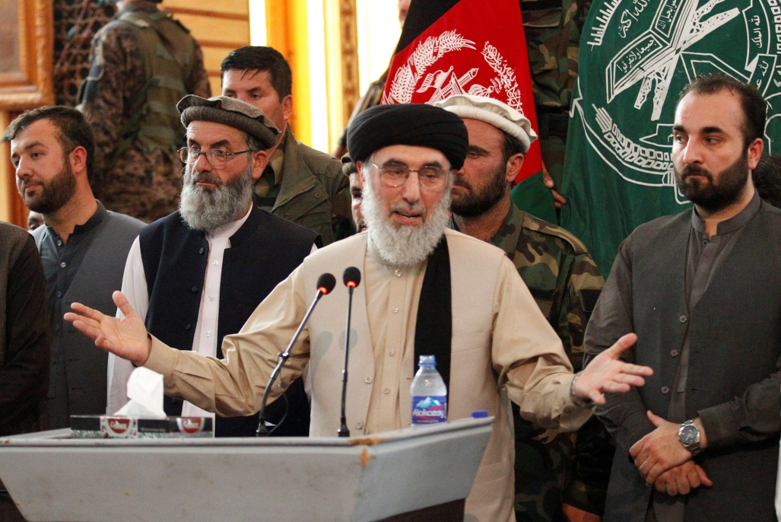 Warlord Gulbuddin Hekmatyar returned to Kabul on May 4 after signing a peace deal with the Afghan government. ( Reuters/Parwiz )