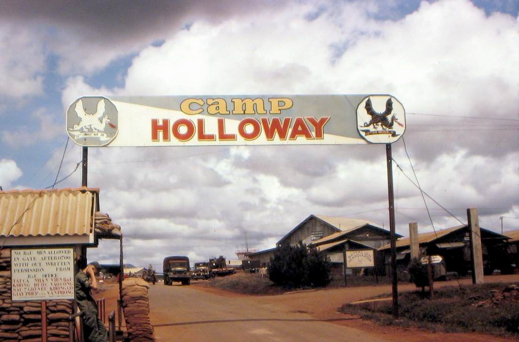 Camp Holloway was a helicopter facility and airbase constructed in 1962 to support allied military operations near Pleiku. On February 7, 1965 it was the subject of an attack by the National Liberation Front 409th Battalion. The attack destroyed four C-7 Caribous, four light attack aircraft, five helicopters, and damaged eleven helicopters.In response, President Johnson launched Operation Flaming Dart I and after another attack by the National Liberation Front,Flaming Dart II. Rolling Thunder would follow after. (Wikimedia Commons)
