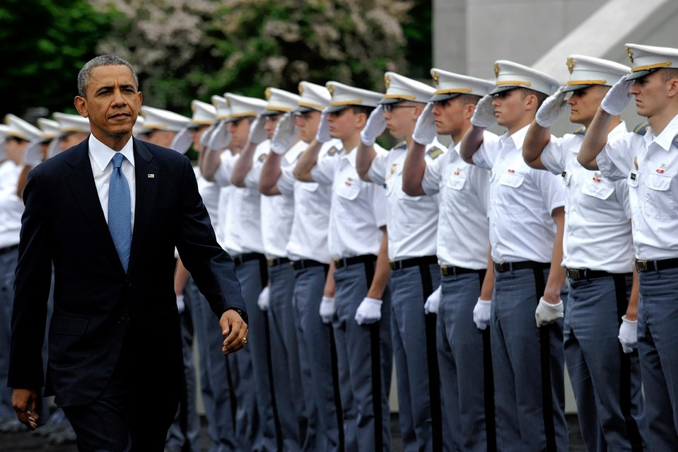 President Obama arrives at the U.S. Military Academy at West Point, N.Y., May 28