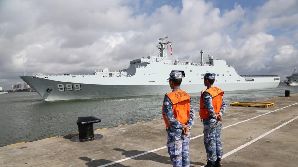 Ships carrying Chinese military personnel depart from Zhanjiang in southern China bound for Djibouti. (Xinhua)