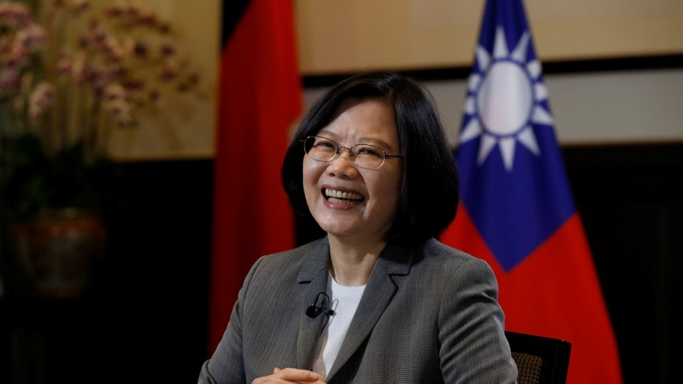 Taiwan President Tsai Ing-wen at the Presidential Office in Taipei in April 2017. (Reuters/South China Morning Post)