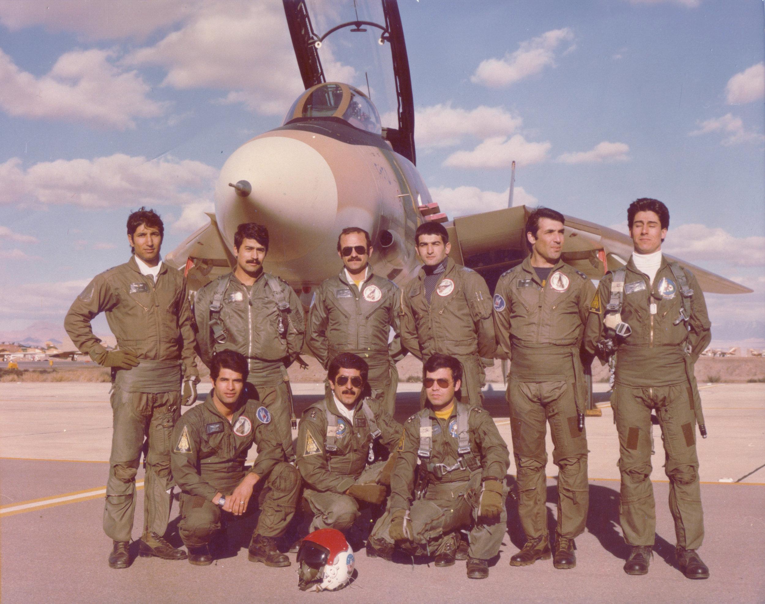 Some of Iran's early F-15 pilots (Wikimedia)