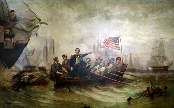 """Battle of Lake Erie"" by William Henry Powell (Wikimedia)"