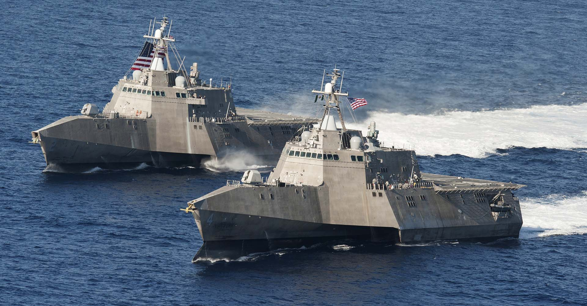 The littoral combat ships USS Independence and USS Coronado (U.S. Navy Photo/Chief Mass Communication Specialist Keith DeVinney)