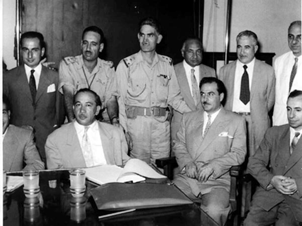 Leaders of the 14 July 1958 revolution in Iraq. (Wikimedia)