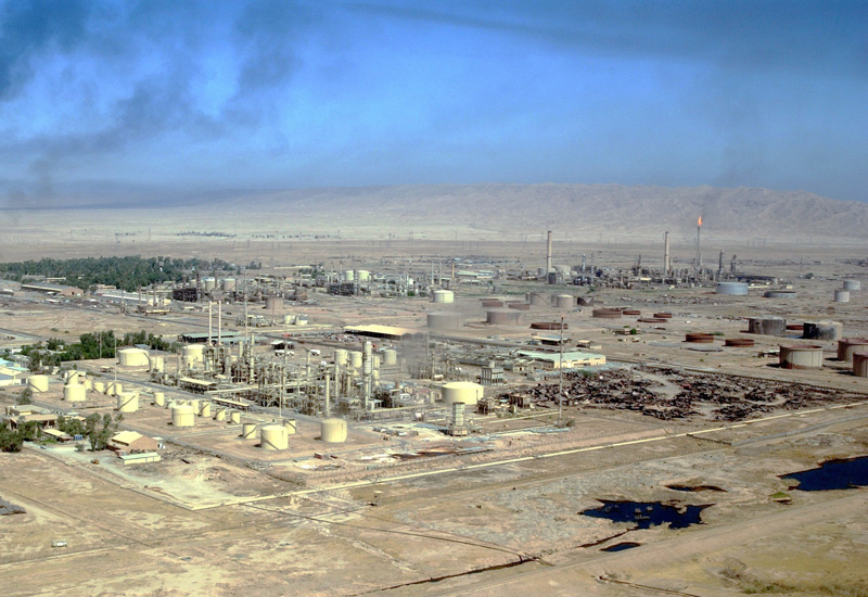 The power facilities at Baiji, severely damaged by bombing in the 1991 Gulf War, which destroyed 80% of the facilities. (ConstructionWeekOnline)