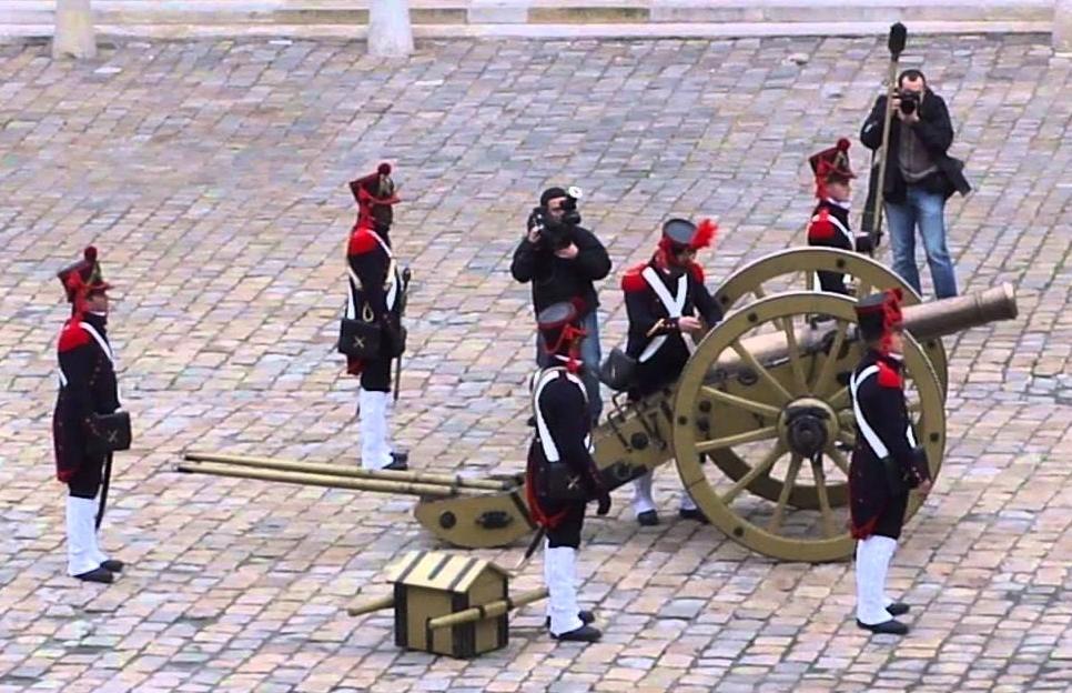 Canon de Gribeauval, re-enactment.