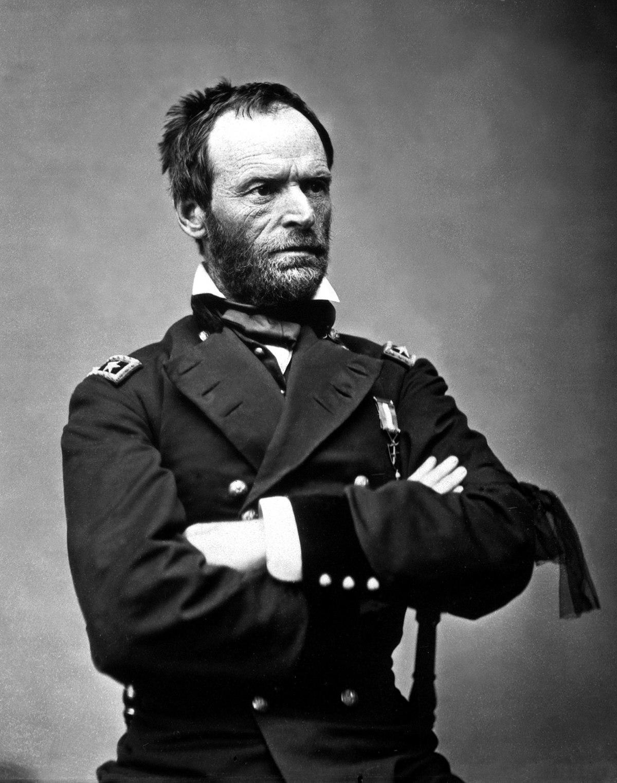 Portrait of General William Tecumseh Sherman, 1865, taken by Matthew Brady (Wikimedia)