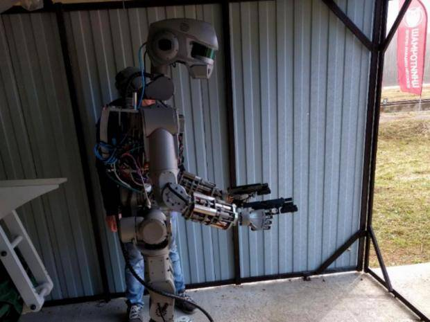 Russia's humanoid robot FEDOR, or Final Experimental Demonstration Object Research. (Dmitry Rogozin/Independent)