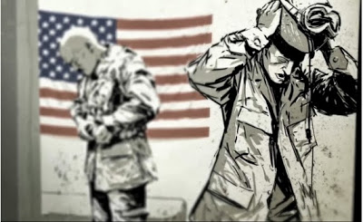 Screen shot from  Operation Homecoming . Click    here    to view video.