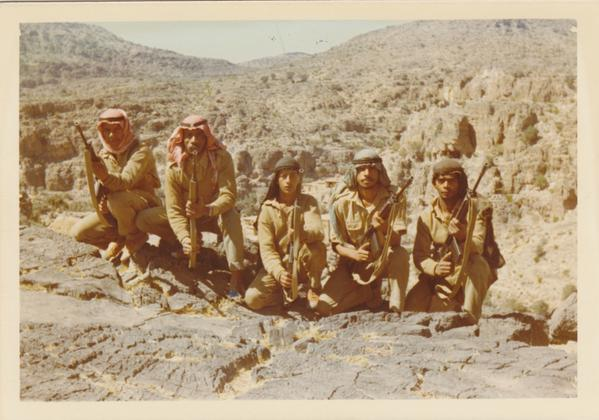 Omani soldiers during the Dhofar Rebellion.