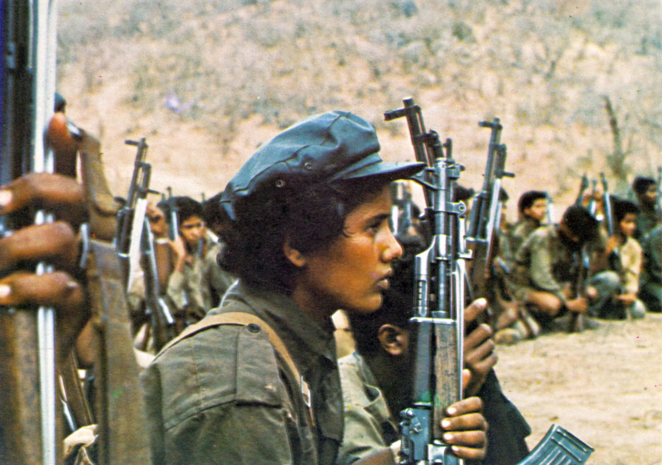 Fighters of the Popular Front for Liberation of Oman, 1977.