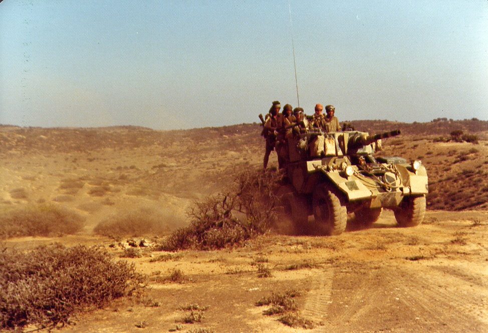 Sultan's Armed Forces soldiers on patrol, Dhofar, Oman. Courtesy of Lt Col Ian Buttenshaw, WKhM, Royal Army of Oman.