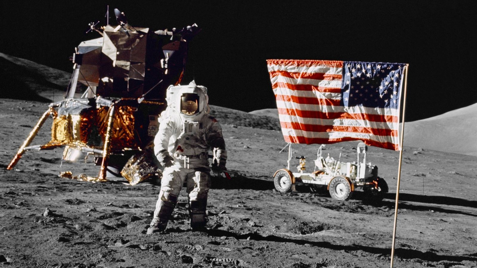 Harrison Schmitt on the Moon during Apollo 17. (NASA)